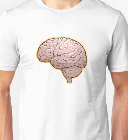 Brain with Orange Glow Unisex T-Shirt