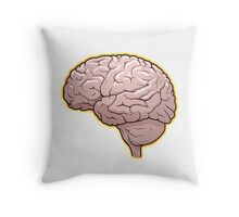 Brain with Orange Glow Throw Pillow
