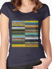 Wooden Abstract lX Women's Fitted Scoop T-Shirt