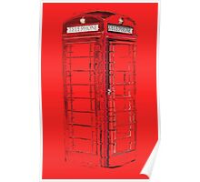Abstract phone box Poster
