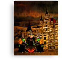 The 3 Witches and Glamis Castle in William Shakespeare's 'Macbeth' Canvas Print
