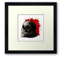 Skull Illustration Framed Print