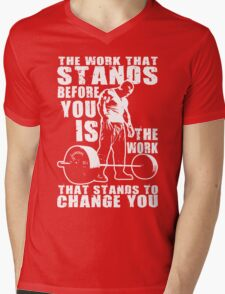 The Work That Stands Before You Mens V-Neck T-Shirt
