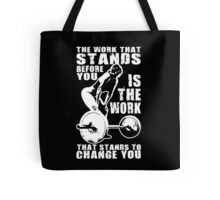 The Work That Stands Before You (Strong Girl) Tote Bag