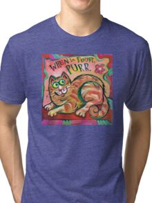 Cat: When in Doubt, Purr Tri-blend T-Shirt