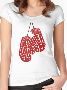 Float Like A Butterfly, Sting Like a Bee (Red) Women's Fitted Scoop T-Shirt