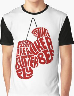 Float Like A Butterfly, Sting Like a Bee (Red) Graphic T-Shirt