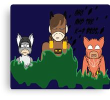 GHO and the K-9 BROS. Canvas Print