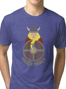 Shield maiden customised 2 Tri-blend T-Shirt