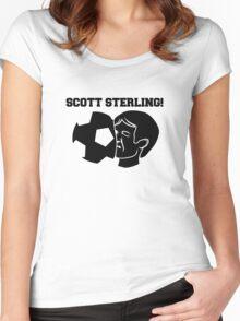 Scott Sterling! (black) Women's Fitted Scoop T-Shirt