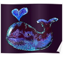Whale Heart Poster
