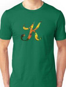 Floral K Unisex T-Shirt