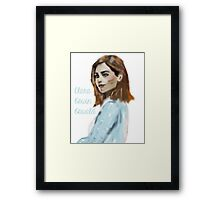 Clara Oswin Oswald Inspired Computer Painting  Framed Print