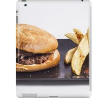 Bacon burger and chips iPad Case/Skin