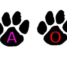 YAOI PAW PRINTS Sticker