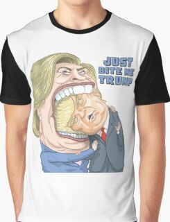 Hillary Clinton: Just Bite Me Trump Graphic T-Shirt