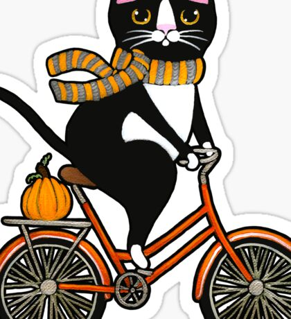 Cat on a Bicycle  Sticker
