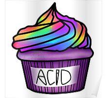 acid cupcake Poster