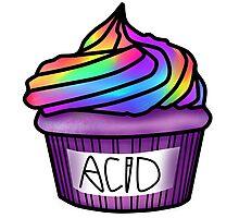 acid cupcake Photographic Print