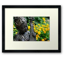 Peace in the home garden  Framed Print
