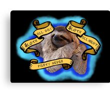 Sloth All The Time Canvas Print