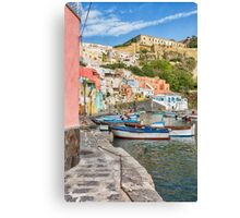 Picturesque marina in Italy. Canvas Print