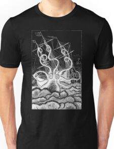 Attack of the Giant Octopus - White for Dark Unisex T-Shirt