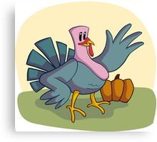 Cartoon turkey Canvas Print