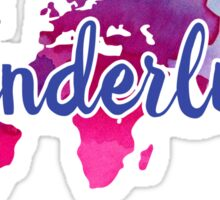 Wanderlust Watercolor Sticker
