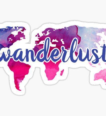 Wanderlust Watercolor Sticker