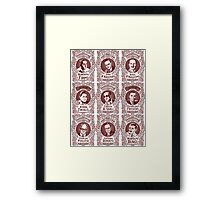 Tango Orchestra Leaders (in red) Framed Print