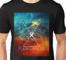 Fuck Cancer // Galaxy // White Font // Brain Cancer Unisex T-Shirt