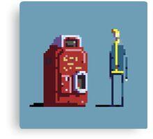 Vault boy and Nuka-Cola vending machine Canvas Print
