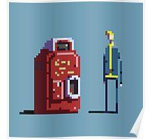 Vault boy and Nuka-Cola vending machine Poster