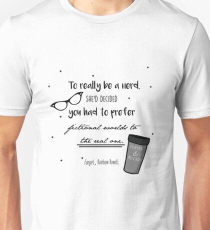 """Fangirl"" Quote Print Unisex T-Shirt"