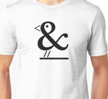 Ampersand Bird (black) Unisex T-Shirt