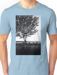Blackwhite tree Unisex T-Shirt