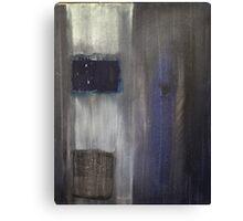 Blue grey black color field Canvas Print