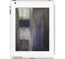 Blue grey black color field iPad Case/Skin