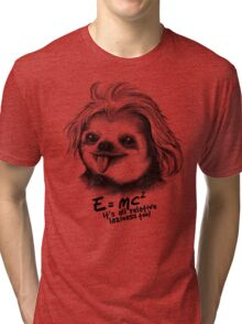 Sloth Einstein Tri-blend T-Shirt
