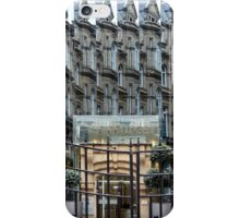 Reflections on a glass building in Leeds, UK iPhone Case/Skin