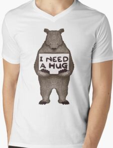 I Need a Hug Mens V-Neck T-Shirt