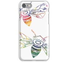 Multicolored Doodle Bees iPhone Case/Skin