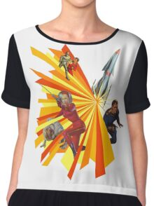 Pulp Science Fiction Chiffon Top