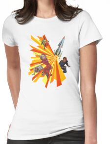 Pulp Science Fiction Womens Fitted T-Shirt