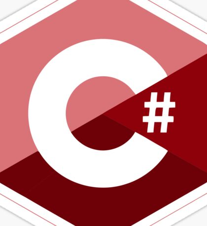 c sharp red language programming c# Sticker