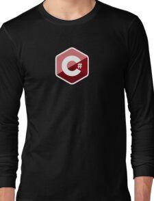 c sharp red language programming c# Long Sleeve T-Shirt