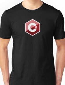 c sharp red language programming c# Unisex T-Shirt