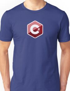c sharp red language programming c# Unisex T-Shirt