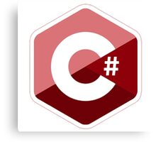 c sharp red language programming c# Canvas Print